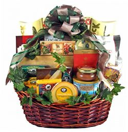 Premium Fathers Day Gift Basket | Meat, Cheese, Nuts, Smoked Salmon, Dried Fruit, Cookies and More