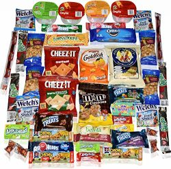 Blue Ribbon Care Package 45 Count Ultimate Sampler Mixed Bars, Cookies, Chips, Candy Snacks Box  ...