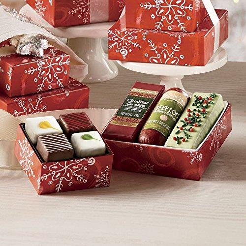 4 Mini Food Gift Towers from The Swiss Colony