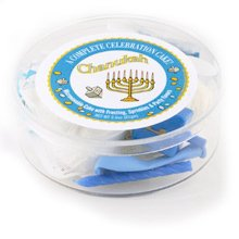 Hanukkah Microwave Cake Mix With Dreidel and balloon