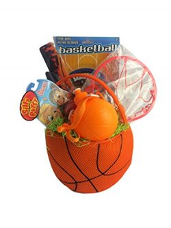 Basketball Gift Basket Box for Kids Boy or Girl Premade Prefilled for Birthday, Get Well, Prizes