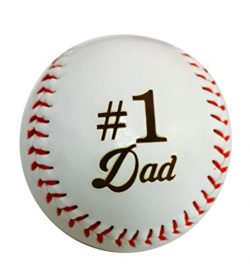 Number One #1 Dad Laser Engraved Synthetic Leather Baseball Gift – Father's Day, Bir ...