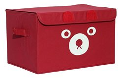 Katabird Storage Bin for Toy Storage, Collapsible Chest Box Toys Organizer with Lid for Kids Pla ...