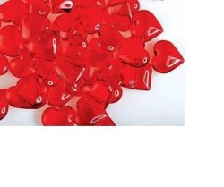 Valentine's Day Gifts & Decorations (Heart-Shaped Plastic Gems) Acrylic Hearts for Vas ...