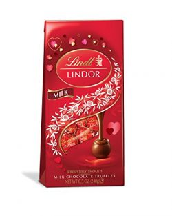 Lindt LINDOR Valentine Milk Chocolate Truffle Bag, Kosher, 8.5 Ounce (Pack of 12)
