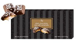 Box of Dark Chocolate Sea Salt Caramels 6 Ounces Bulk Popular Gift Basket Idea Home Family House ...
