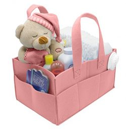Sorbus Baby Diaper Caddy Organizer | Nursery Storage Bin for Diapers, Wipes & Toys | Portabl ...