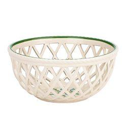 Lenox Holiday Open Weave Bread Basket,Ivory