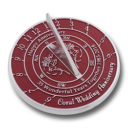 Looking For The Best 35th Coral Wedding Anniversary Gift? This Unique Sundial Gift Idea Is A Gre ...