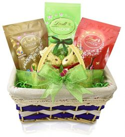 Gift Universe – EASTER Gift Basket with Lindt Milk & White Chocolate Truffles, Lindt M ...