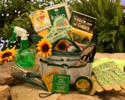 Weekend Gardener Tote Gift Basket for Women