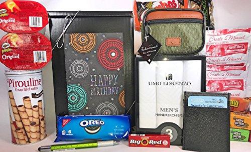 Mens Birthday Gift Box Basket II Prime Send Happy Wishes To Friend Dad G