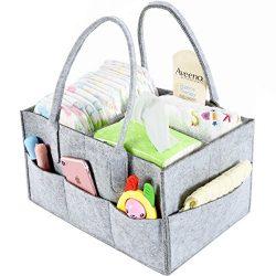 Baby Diaper Caddy Organizer By Brolex: Large Capacity Nursery Organizer For Boys Girls– Unisex P ...