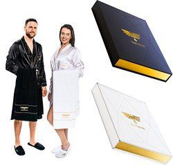 Luxury Spa Gift Set – Bathrobe Towel Slippers – Best Christmas gift idea for him &am ...