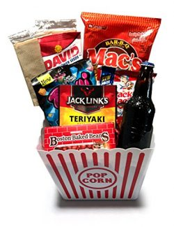 Gift Baskets Manly Mans Meat and Snack Attack Gift Baskets – Lots To Choose From (Popcorn  ...