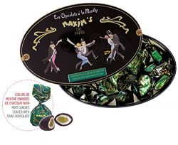 Maxim's de Paris French Gourmet Dark Chocolate Candies with a Heart of Mint Gift Tin 6.2oz
