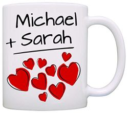 Personalized His and Her Couples Wedding Gift Mug, I love my Husband Wife Mom and Dad Romantic C ...