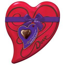 DOVE Valentine's Dark Chocolate Truffles Heart Gift Box 6.5-Ounce Tin