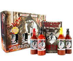 Zombie Cajun Hot Sauce Gift Set, Gourmet Basket Includes 4 (6oz) Bottles of the Best Louisiana H ...