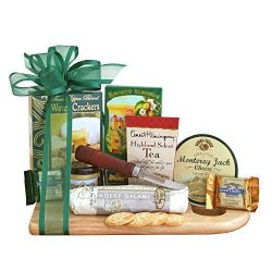 Gourmet Meat and Cheese Gift Basket | Great Fathers Day Meat and Cheese Gift Idea by Organic Stores