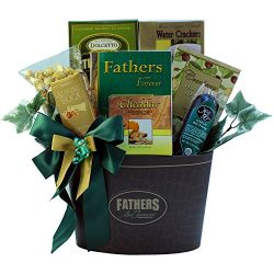 Fathers Are Forever Gourmet Food Gift Basket with Keepsake Book