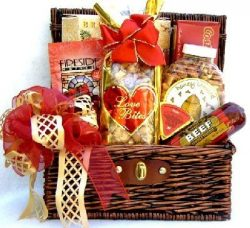 Meat and Cheese and Tasty Treats Gourmet Gift Basket   Men's Gift Idea