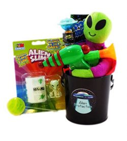 Spooky Alien Protection Kit Candy Toy Gift Basket