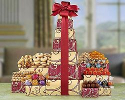 Chocolate and Sweets Tower by Wine Country Gift Baskets