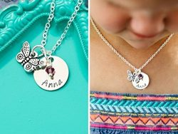 Personalized Butterfly Necklace – DII AAA – Easter Gift Basket – Little Girls Jewelr ...