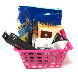 I Love Pink Beauty Gift Basket ~ Includes Tweezers, Nail Clippers, Natural Lip Color, Cleansing  ...