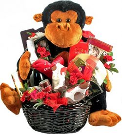 Wild and Crazy for You Romantic Gift Basket