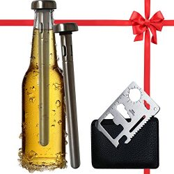 Best Beer Chiller Stick Pack of 2 – Bottle Opener Gift Included – Top Single Cooler  ...