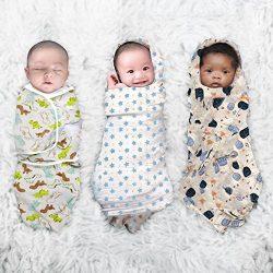 Baby Swaddle Blankets, Adjustable Baby Sleep Sack Wrap, Muslin Cotton, Baby Gift for Newborn, Ba ...