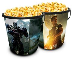 Transformers: Age of Extinction Theater Exclusive Promotional Plastic 130 oz Popcorn Tub