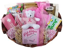GreatArrivals Gift Baskets Courage Hope and Strength Breast Cancer Set