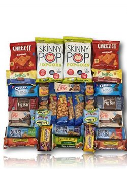 Natural & Healthy Snacks Care Package by AtHomePlus (30 Count) –Perfect Gift for Colle ...