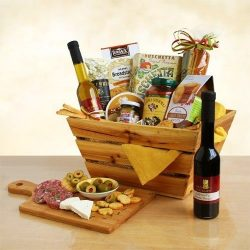 Italian Thank You Gift Basket | Pasta, Marinara Sauce, Olive Oil, Balsamic Vinegar, Olives, Sala ...