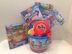 Paw Patrol Easter 5″ Small Bucket of Fun 19 Piece Gift Basket Set