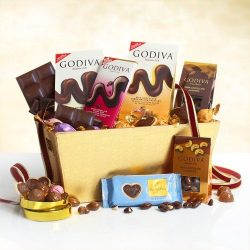 Chocolate Collection Godiva Gift Basket