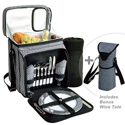 Picnic at Ascot Original Cooler Equipped for 2 with Extra Wine Tote and Blanket – Designed ...