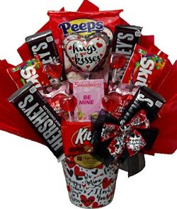 """Delight Expressions® """"Hugs and Kisses"""" Gift Basket – Valentine's Day Can ..."""