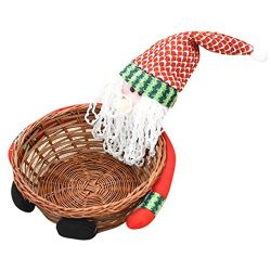 Clearance! Paymenow Christmas Candy Food Fruit Storage Basket Decoration Santa Claus Holidays Po ...