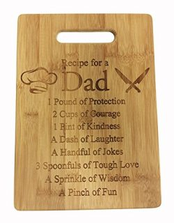 Recipe for a Dad Cute Funny Laser Engraved Bamboo Cutting Board – Wedding, Housewarming, A ...