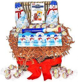Christmas Snowmen Ghirardelli & Lindt Chocolate Variety Gift Basket – 2 Jumbo Lindt Sn ...