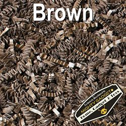Mighty Gadget (R) 1/2 LB Brown Chocolate Crinkle Cut Paper Shred Filler for Gift Wrapping &  ...
