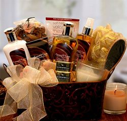 Caramel Spa Bliss -Women's Birthday, Holiday, or Mother's Day Gift Basket