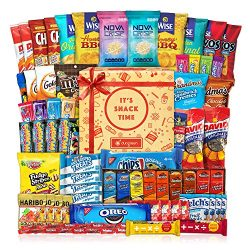 Care Package (60 Count) Cookie Chips & Candies Party Snack Gift Bundle