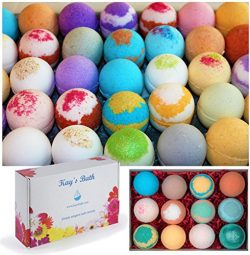 Handmade Bath Bomb Fizzies Gift Set – Individually Wrapped Assorted Scents – Natural ...
