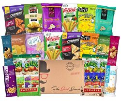 GLUTEN FREE and VEGAN Healthy Snacks Care Package (28 Ct): Bars, Chips, Crispy Fruit, Nuts Trail ...