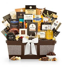 GiftTree Fit for Royalty Gourmet Chocolate Gift Basket – Assorted Chocolate Including Ghir ...